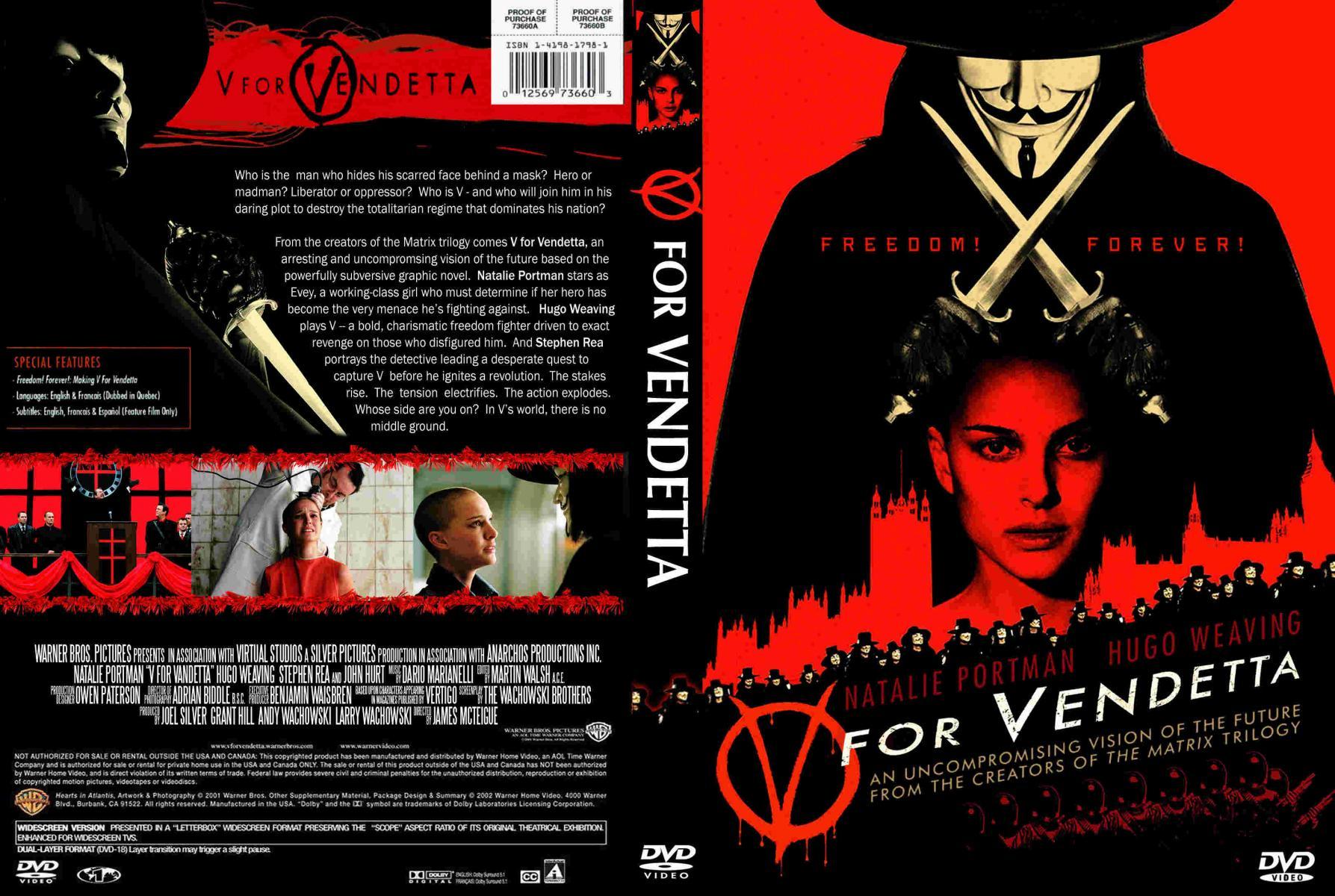 V For Vendetta Movie Cover Filmes Libertário...